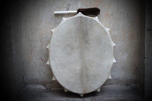 30'' Tambourine Siberian Shamanic Oval Drum Frame drum Handcrafted Powerful sound by Siberian Shamanic