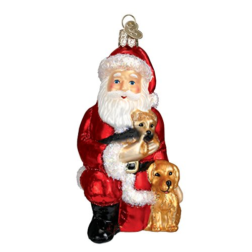 Old World Christmas Ornaments: Santa's Best Friends Glass Blown Ornaments for Christmas Tree Blown Glass Santa Ornament