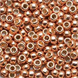 8/0 Round TOHO Japanese Glass Seed Beads #PF551- Permanent Finish Galvanized Rose Gold (Lustered Rose)