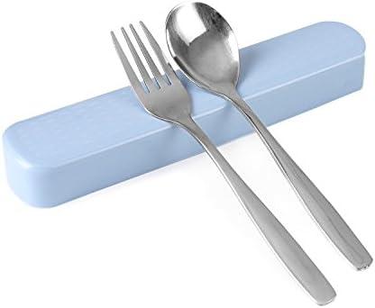 Cute niño tenedor cubiertos tenedor cuchara 304 acero inoxidable