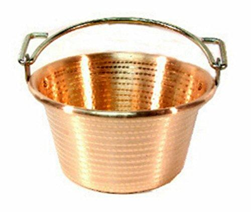 7 qt Copper Polenta Pot with Bail Handles