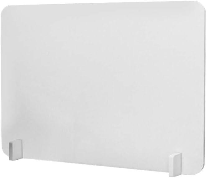 HDGTSA Separator Panel Divider Office Desk Dispensers Privacy Divider Partition Desk Separator Panel Suitable for Schools, Offices (White-30CMx40CMx1CM)