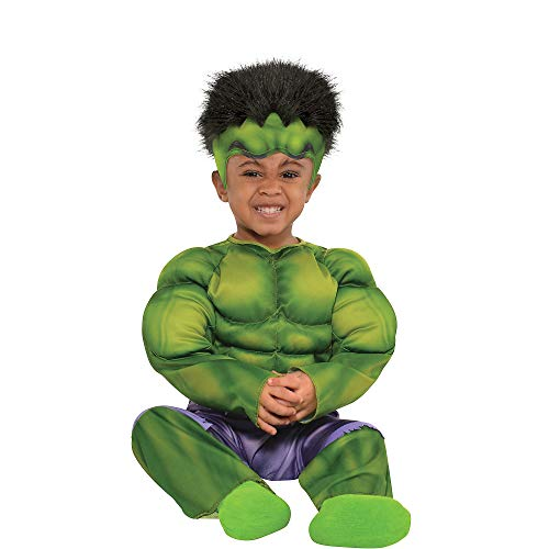 Make It Yourself Baby Halloween Costumes (Suit Yourself Hulk Muscle Costume for Babies, Size 12-24 Months, Includes a Padded Jumpsuit and a Hat with)