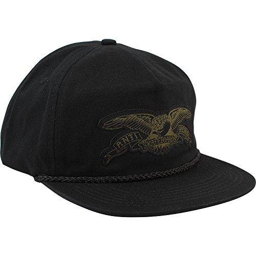 Anti Hero Skateboards Stock Eagle Patch Black Snapback Hat - Adjustable