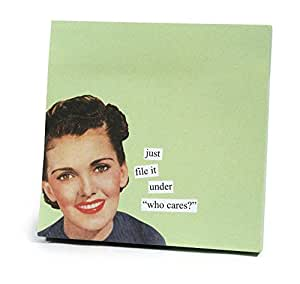 """ANNE TAINTOR 73301 """"Who Cares"""" Sticky Notes"""