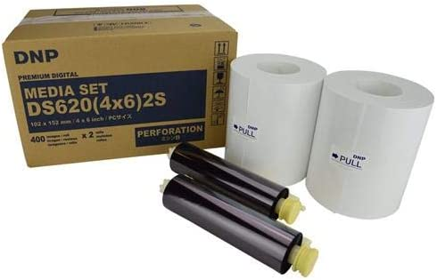 DNP DS620A Perforated Printer Media, 4x6 Roll, Center Perf