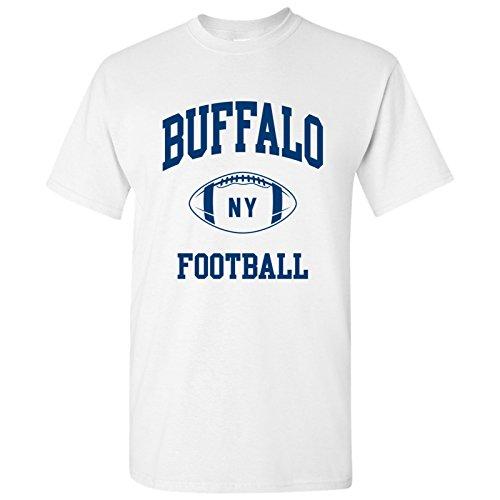 Buffalo Classic Football Arch Basic Cotton T-Shirt - X-Large - White