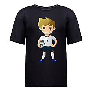 Custom Mens Cotton Short Sleeve Round Neck T-shirt,2014 Brazil FIFA World Cup UP71 black