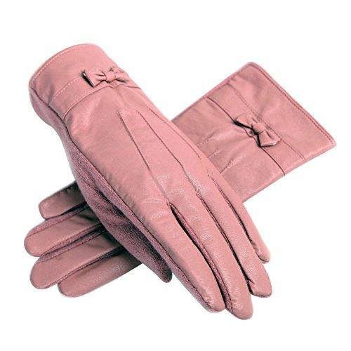 カシミヤ100% 手袋 レザーグローブ 革手袋 スマホ対応手袋 あったか 女の子 指穴 きれいめ スマホ手袋 防寒手袋 冬小物 ふわふわ ニット手袋 手ぶくろ ウール手袋 リボン付き 可愛い ツイード インナー付き 秋冬 全4色