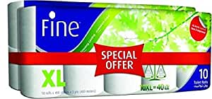 FINE  Toilet Tissue - Pack of 20 Rolls, 400 Sheets x 2 Ply