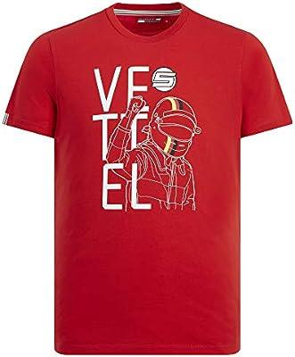 Branded Sports Merchandising B.V. Camiseta de hombre Escudería Ferrari F1, color rojo - Sebastian Vettel, XL, Rojo: Amazon.es: Deportes y aire libre