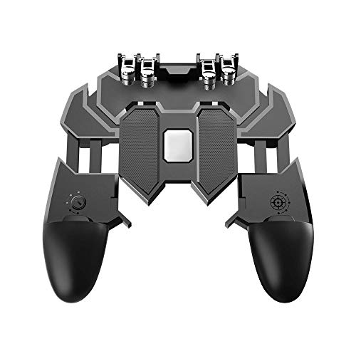 FOONEE Mobile Game Controller, Wireless 6 Finger Operation Mobile Gaming Joystick for PUBG,iOS Android Universal Mobile Gaming Joystick Gamepad Grip
