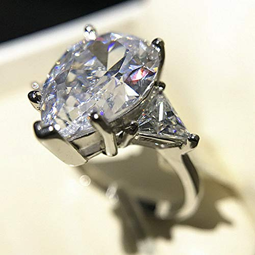- Tomikko 5ct Pear Cut Triangle Unique AAA CZ 925 Silver Womens Engagement Ring Size 4-9 | Model RNG - 25676 | 4,5