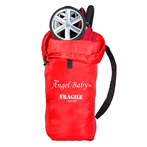Angel Baby Stroller Travel Bag for Airplane: Stroller Gate Check Bag Cover, Red
