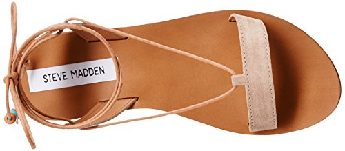 Steve Madden Mujer rennyy Flat Sandal Taupe Suede