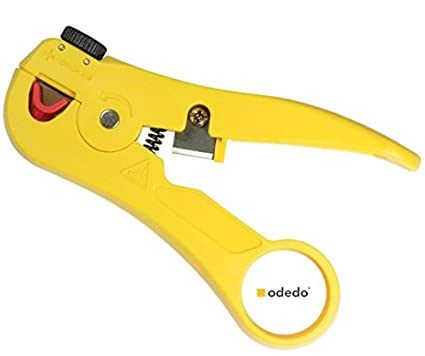 odedo® Pelacables con cortador de cable para red de cable, Ethernet Cable, Cable