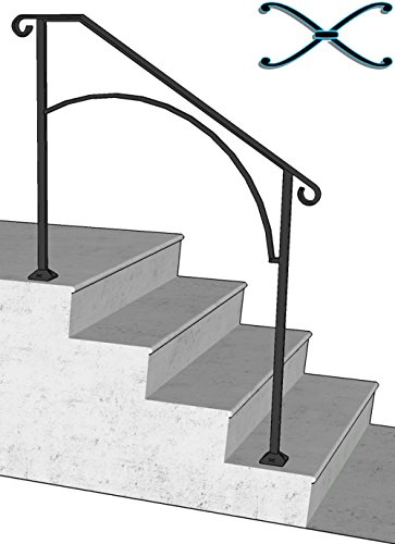 diy iron x handrail arch 3 fits 3 or 4 steps