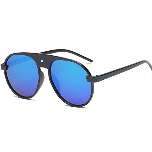 Aoligei Film couleur Pentagram lunettes de soleil mode masculine Dame Bright D