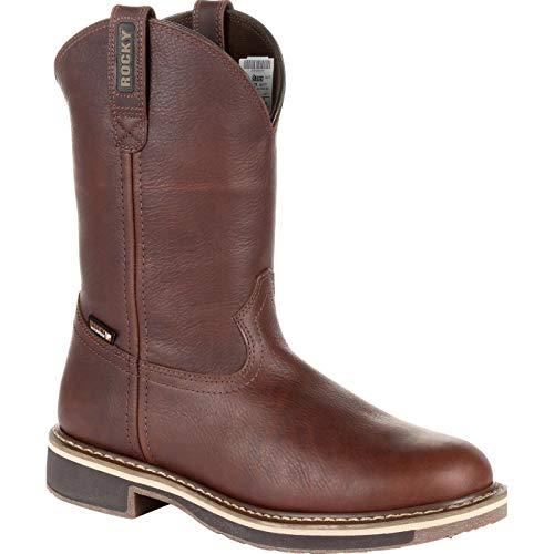Rocky Men's Cody Waterproof Western Boot Round Toe Brown 12 D