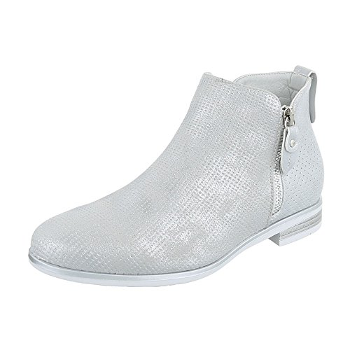 Ital-Design Women's Chelsea Boots Silber V4lCZFy