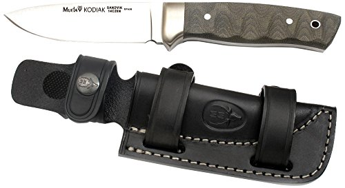 Muela KODIAK-10G Fixed Blade Hunting Knife with Leather Sheath, 4""