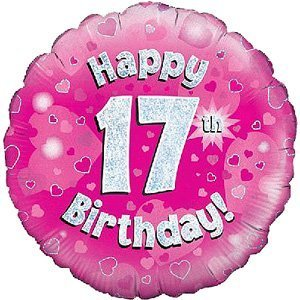 Happy 17th Birthday Girl Balloon Delivered Inflated In A Box By InterGIFTS Amazoncouk Toys Games