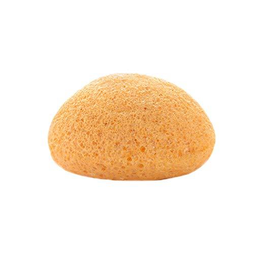 (Irene Wash Clean Sponge Hot Natural Konjac Fiber Face Puff Exfoliator Tools (Yellow))