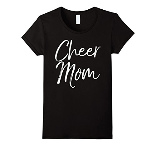 Womens Cheer Mom Shirt Funny Proud Cheerleader Mother Tee Large (Cheer T-shirt Designs)