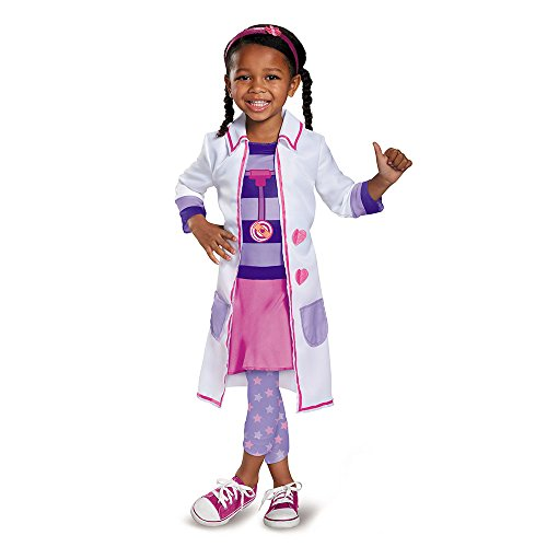 Toddler Doc Mcstuffins Costumes (Doc Toy Hospital Classic Doc Mcstuffins Disney Junior Costume, Small/2T)