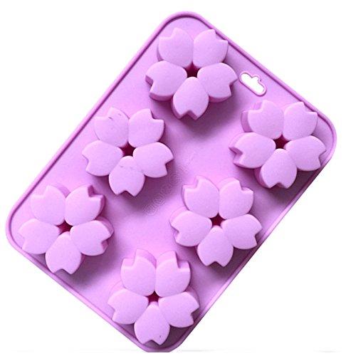 hydaa silicona corazón molde Chocolate Jelly Candy molde DIY Cupcakes jabón Color al azar
