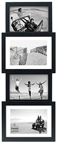 Malden International Designs Collage Picture Frame, 4 Option, 2-4x6 & 2-5x7, Black