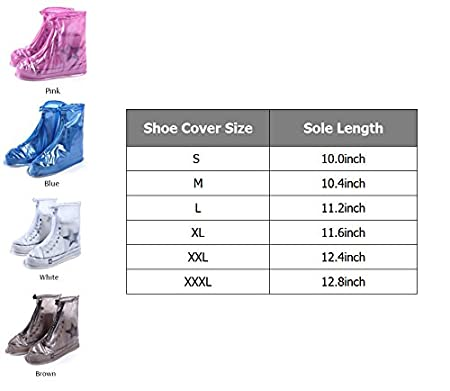 Women Men Kids Waterproof Bike Motorcycle Shoes Covers Rain Snow Boots Covers Reusable Slip-resistant Overshoes for Cycling,Outdoor,Camping,Fishing,Garden Small, Brown