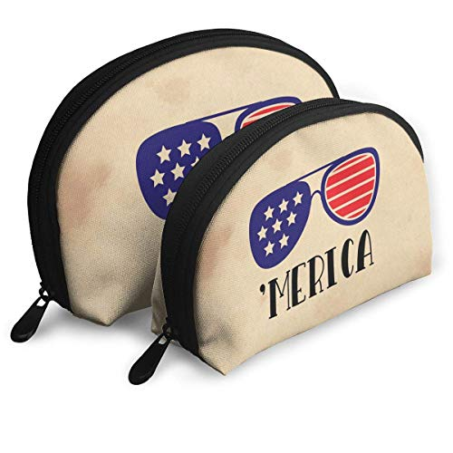 - Merica Sunglasses Women Shell Portable Bags Clutch Pouch Check Wallet Bags