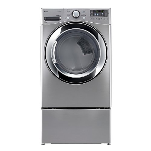 LG DLEX3370V 7.4 cu. ft. Electric Dryer with 10 Drying Cycles, TrueSteam Technology, Energy Star Rated, in Graphite Steel.
