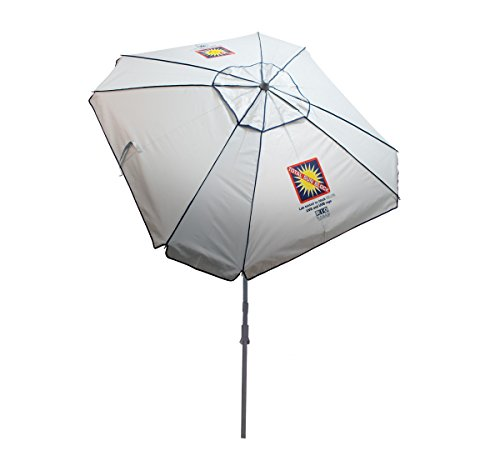Rio Brands Beach Total Sun Block Umbrella with Sand Anchor, 7-Feet ()