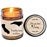 BFF Gift Long Distance Friendship Best Friend Gift Soy Candle Long Distance Love Gift for Friend Scented Candle Birthday Gift Valentine Gift