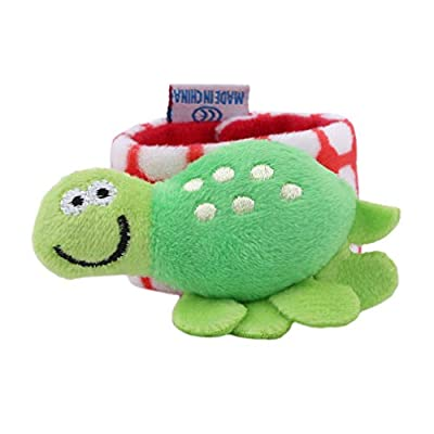 Meoliny Baby Rattle Baby Wrist Rattles Developmental Soft Animal Rattles Infant Toys Educational Plush Toy Shower Gift,Turtle: Arts, Crafts & Sewing