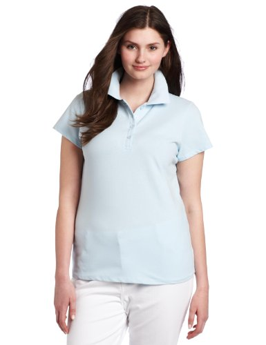 BASIC Southpole Juniors Plus-Size Basic Solid Color Polo, Baby Blue, 2X