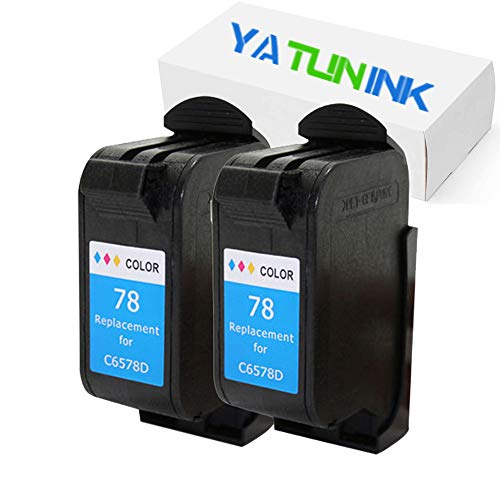 YATUNINK Remanufactured Ink Cartridge Replacement for HP 78 Ink Cartridges Compatible for HP Deskjet/Color Copier/Fax/Officejet/Photosmart/PSC Series Printer(Color,2 Pack) Copier Fax Ink Cartridges