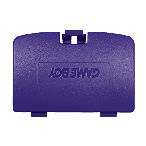 Color Game Battery Boy Cover (eJiasu GBC Battery Cover, Plastic Repair Back Cover Parts Replacement Battery Door Cover for Nintendo GBC Gameboy Color System (1PC-Purple))