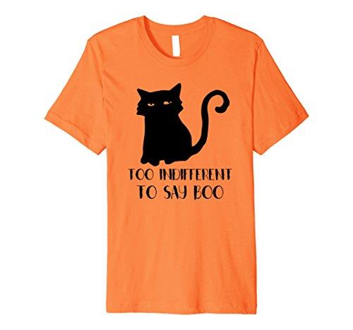 Men's Funny Halloween Black Cat T-Shirt Halloween Boo TShirt  Large Orange (Two Person Halloween Costumes)