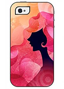 OUO Unique Fashion Design Snap on Iphone 4 4S 4G Hard Shell Case with Picture of Golden Fashion Lady
