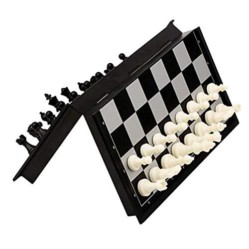 Gowsch – Juego de ajedrez magnético de plástico para niños, con tablero de ajedrez plegable, juguetes educativos para…
