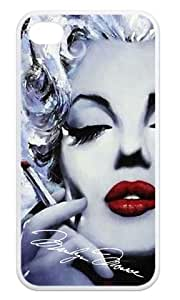 Marilyn Monroe Smoking Phone Shell Cover Case for iPhone 4/4s