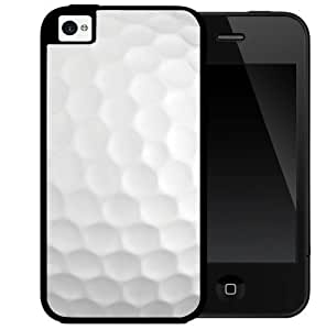 Golf Ball 2-Piece Dual layer High Impact Black Silicone Cover Phone Case (iPhone 4 4s)