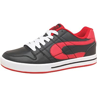 62c4f6e571 Duffs Mens Lo Skate Shoes Black Red - 7 UK 7 Euro 41 US 8 - Black ...