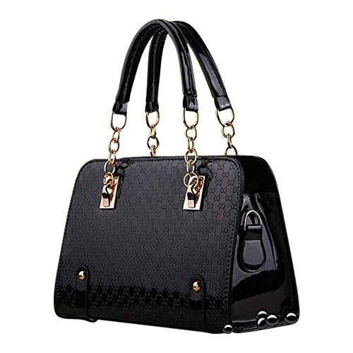 - Ladies Patent Purse - PU Leather Unique Handbag For Women - Crossbody Messenger Bag- Shoulder Bag - Pocketbook