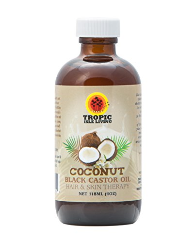 Tropic Isle Living Coconut Jamaican Black Castor Oil 4 oz - Glass (Tropics Best Coconut Oil)