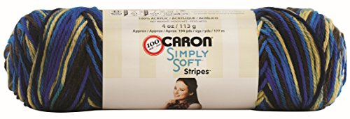 Caron Simply Soft Stripes Yarn, 4 Ounce, Churchill Downs, Single Ball