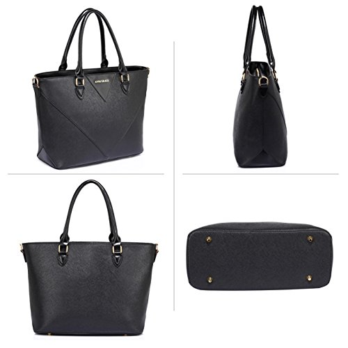 LeahWard School Bag 536 Shoulder Handbags Her Designer Bag Leather Bags Large Faux Tote Black Women's For rTUqw7r